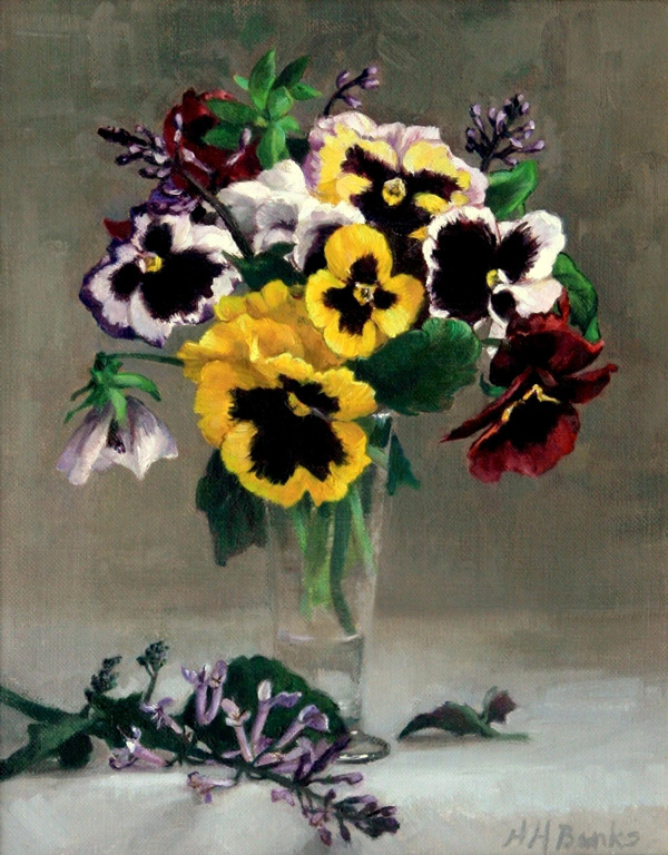 Gandy Gallery | The Fine Art of Holly Hope Banks | Pansies and ...: www.classicalrealism.com/art/Masters/Holly_Banks/Images/Pansies_and...